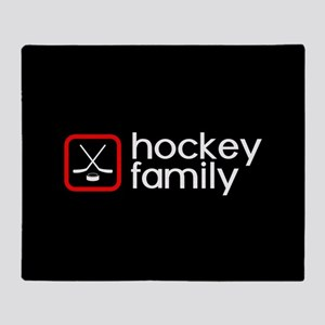 Hockey Family (Red) Throw Blanket