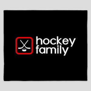 Hockey Family (Red) King Duvet