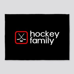 Hockey Family (Red) 5'x7'Area Rug