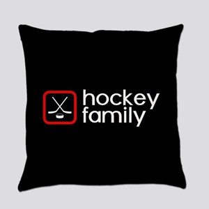 Hockey Family (Red) Everyday Pillow