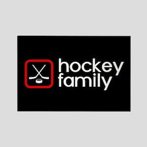 Hockey Family (Red) Rectangle Magnet