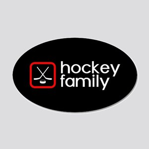 Hockey Family (Red) 20x12 Oval Wall Decal