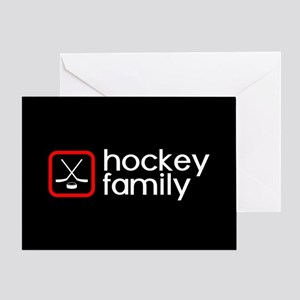 Hockey Family (Red) Greeting Card
