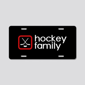 Hockey Family (Red) Aluminum License Plate