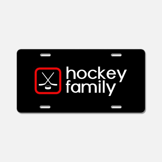 Hockey Family (Red) Aluminum License Plate