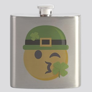 Shamrock Kiss (w/ Hat) Flask