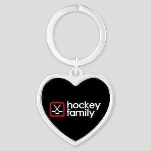 Hockey Family (Red) Heart Keychain