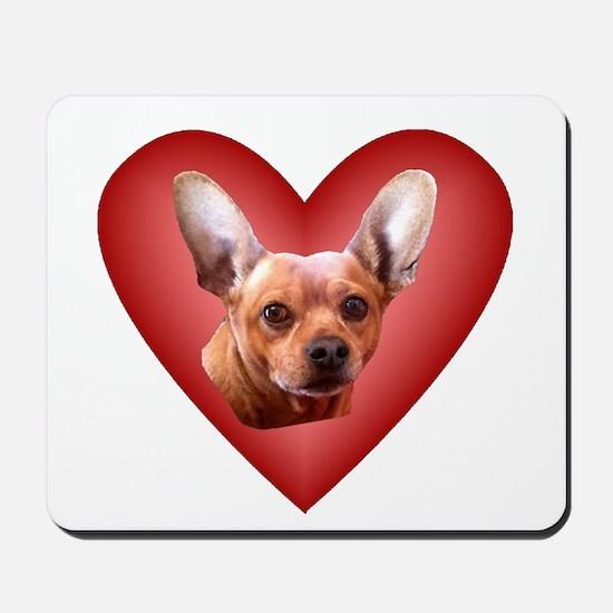 Chiweenie Love Mousepad