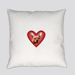 Chiweenie Love Everyday Pillow