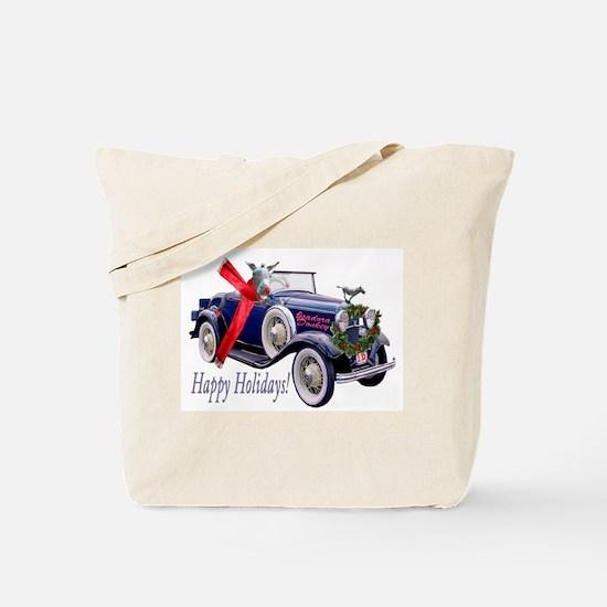 ISADORA DONKEY HAPPY HOLIDAYS Tote Bag