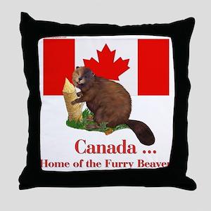 Canada - Beaver Home Throw Pillow