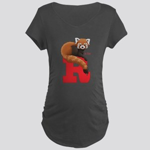 R is for Red Panda Maternity T-Shirt