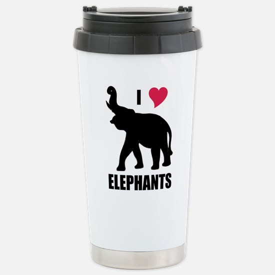 I Love Elephants Mugs