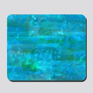 Caribbean Sea Watercolor Texture Mousepad
