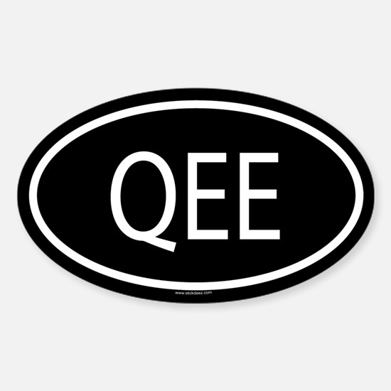 QEE Oval Decal