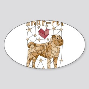 Geometric Shar-Pei Sticker