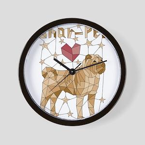 Geometric Shar-Pei Wall Clock