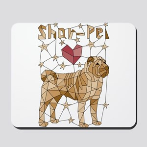 Geometric Shar-Pei Mousepad