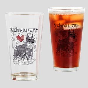 Geometric Schnauzer Drinking Glass