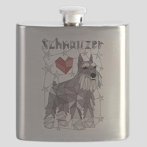Geometric Schnauzer Flask