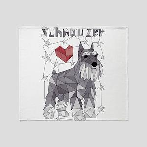 Geometric Schnauzer Throw Blanket