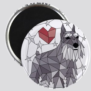 Geometric Schnauzer Magnets