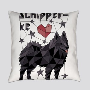 Geometric Schipperke Everyday Pillow