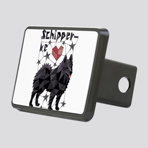 Geometric Schipperke Rectangular Hitch Cover