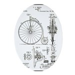 Bicycle Patent Print 1887 Oval Ornament