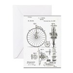 Bicycle Patent Print 1887 Greeting Cards