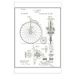 Bicycle Patent Print 1887 Poster