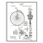 Bicycle Patent Print 1887 Small Poster