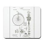 Bicycle Patent Print 1887 Mousepad