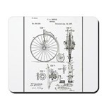 Bicycle Patent Print 1887 Mousepad
