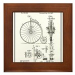 Bicycle Patent Print 1887 Framed Tile