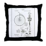 Bicycle Patent Print 1887 Throw Pillow