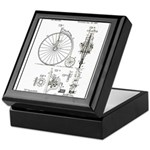 Bicycle Patent Print 1887 Keepsake Box