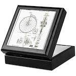 Bicycle Patent Print 1887 Keepsake Box