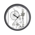 Bicycle Patent Print 1887 Wall Clock