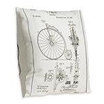 Bicycle Patent Print 1887 Burlap Throw Pillow