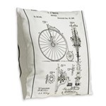 Bicycle Patent Print 1887 Burlap Throw Pillow