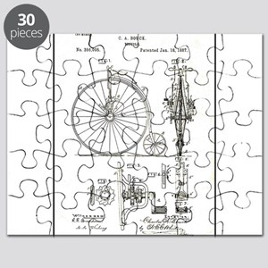 Bicycle Patent Print 1887 Puzzle