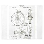 Bicycle Patent Print 1887 King Duvet