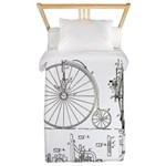 Bicycle Patent Print 1887 Twin Duvet