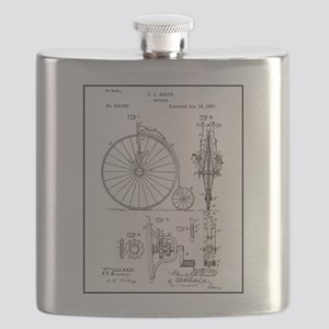 Bicycle Patent Print 1887 Flask