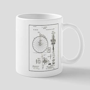 Bicycle Patent Print 1887 Mugs
