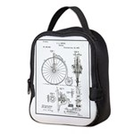 Bicycle Patent Print 1887 Neoprene Lunch Bag