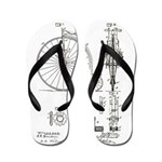 Bicycle Patent Print 1887 Flip Flops