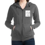 Bicycle Patent Print 1887 Women's Zip Hoodie