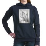 Bicycle Patent Print 1887 Women's Hooded Sweatshir
